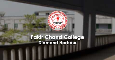 Fakir Chand College, Diamond Harbour - Admission Notice 2018 - 2019