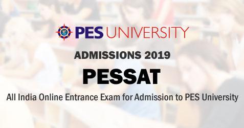 PESSAT 2019 | Notification | College Admission