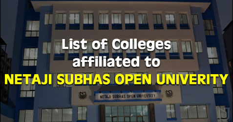 Netaji Subhas Open University Affiliated Colleges Study Centres