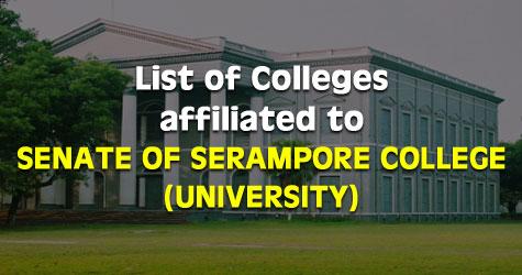 Senate of Serampore College (University) Affiliated Colleges